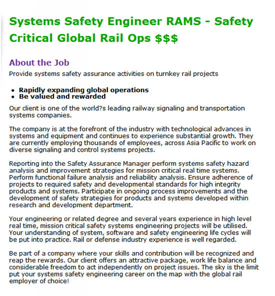 Example Job Ads For System Engineers